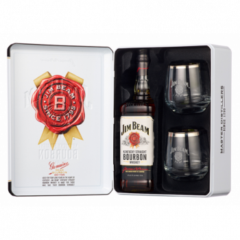 JIM BEAM WHITE + SZKLANKI 0,7L