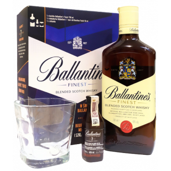 BALLANTINES FIN 0,7L+SZKLANKA