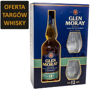 GLEN MORAY 12YO + 2SZKLANKI